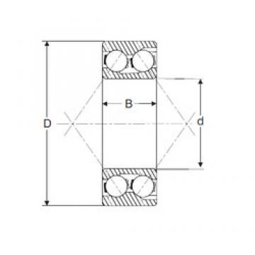 20 mm x 47 mm x 20,6 mm  SIGMA 3204 angular contact ball bearings