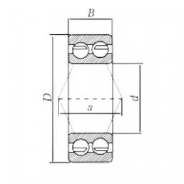 20 mm x 47 mm x 20,6 mm  Loyal 3204-2RS angular contact ball bearings