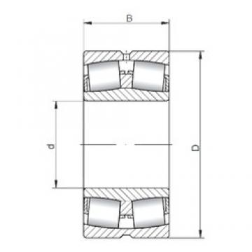 280 mm x 460 mm x 146 mm  Loyal 23156 CW33 spherical roller bearings