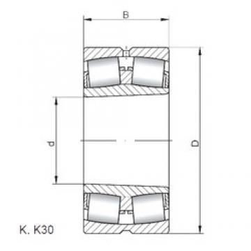 160 mm x 290 mm x 104 mm  Loyal 23232 KCW33 spherical roller bearings
