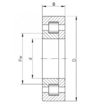 110 mm x 280 mm x 65 mm  ISO NUP422 cylindrical roller bearings