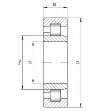 110 mm x 280 mm x 65 mm  ISO NJ422 cylindrical roller bearings