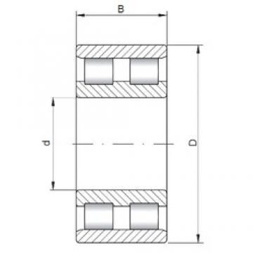280 mm x 460 mm x 146 mm  ISO NN3156 cylindrical roller bearings