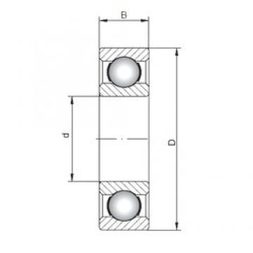 160 mm x 220 mm x 28 mm  ISO 61932 deep groove ball bearings
