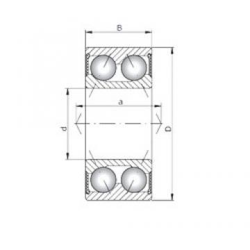 ISO 3204-2RS angular contact ball bearings