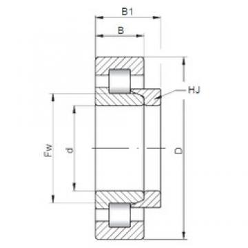 110 mm x 280 mm x 65 mm  Loyal NH422 cylindrical roller bearings