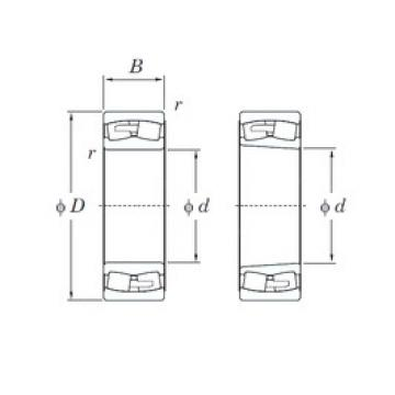 280 mm x 460 mm x 146 mm  KOYO 23156RHAK spherical roller bearings