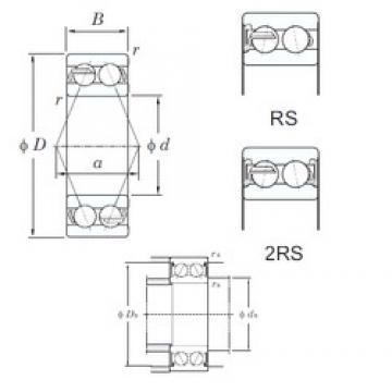 20 mm x 47 mm x 20.6 mm  KOYO 5204-2RS angular contact ball bearings