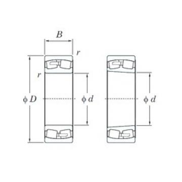 160 mm x 290 mm x 104 mm  KOYO 23232R spherical roller bearings