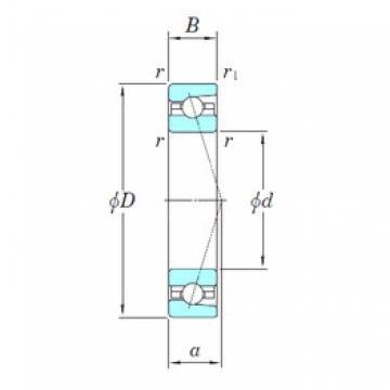 160 mm x 220 mm x 28 mm  KOYO 3NCHAC932C angular contact ball bearings
