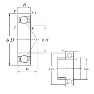 160 mm x 220 mm x 28 mm  KOYO 7932C angular contact ball bearings