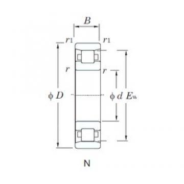 110 mm x 280 mm x 65 mm  KOYO N422 cylindrical roller bearings