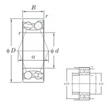 20 mm x 47 mm x 20.6 mm  KOYO 3204 angular contact ball bearings
