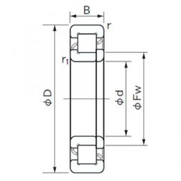 95 mm x 240 mm x 55 mm  NACHI NUP 419 cylindrical roller bearings