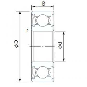 160 mm x 220 mm x 28 mm  CYSD 6932-Z deep groove ball bearings