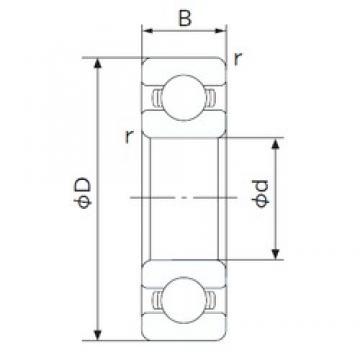 160 mm x 220 mm x 28 mm  NACHI 6932 deep groove ball bearings