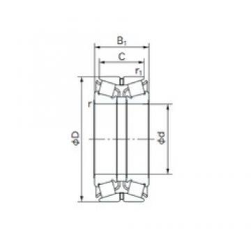 NACHI 280KBE031 tapered roller bearings