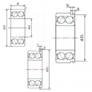 20 mm x 47 mm x 20.6 mm  NACHI 5204ANR angular contact ball bearings