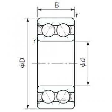 20 mm x 47 mm x 20.6 mm  NACHI 5204Z angular contact ball bearings