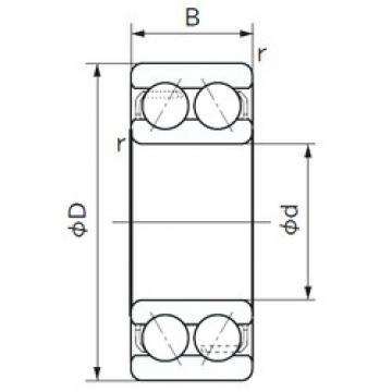 20 mm x 47 mm x 20.6 mm  NACHI 5204A angular contact ball bearings