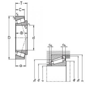 30 mm x 55 mm x 17 mm  NKE 32006-X tapered roller bearings