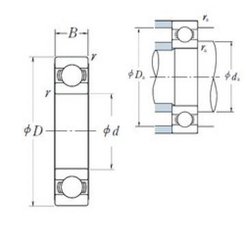 160 mm x 220 mm x 28 mm  NSK 6932 deep groove ball bearings
