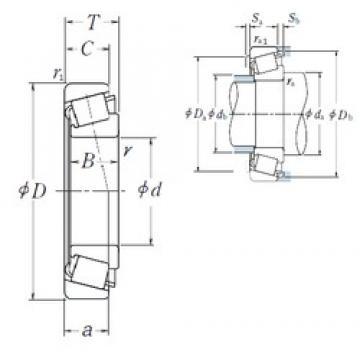 30 mm x 55 mm x 17 mm  NSK HR32006XJ tapered roller bearings