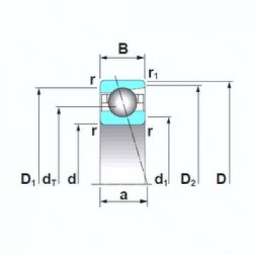 160 mm x 220 mm x 28 mm  NSK 7932A5TRSU angular contact ball bearings