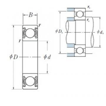 160 mm x 220 mm x 28 mm  NSK 6932ZZS deep groove ball bearings