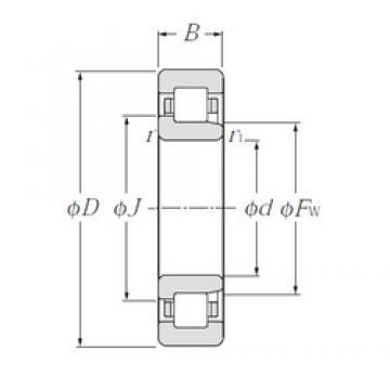 95 mm x 240 mm x 55 mm  CYSD NJ419 cylindrical roller bearings