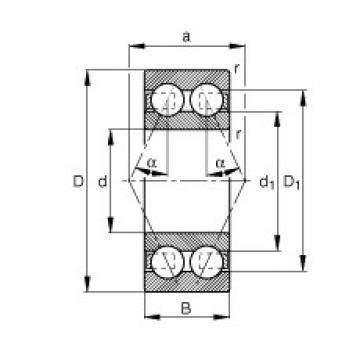 20 mm x 47 mm x 20,6 mm  FAG 3204-BD-TVH angular contact ball bearings