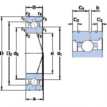 80 mm x 110 mm x 16 mm  SKF 71916 ACB/HCP4AL angular contact ball bearings