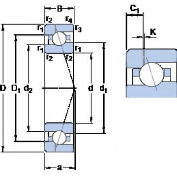 25 mm x 47 mm x 12 mm  SKF 7005 CE/P4AH1 angular contact ball bearings