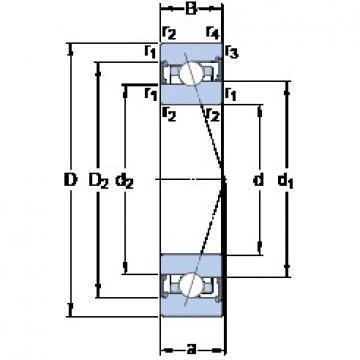 80 mm x 110 mm x 16 mm  SKF S71916 ACB/HCP4A angular contact ball bearings