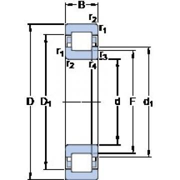 50 mm x 90 mm x 20 mm  SKF NUP 210 ECP thrust ball bearings