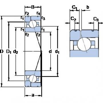 25 mm x 47 mm x 12 mm  SKF 7005 ACE/HCP4AL1 angular contact ball bearings