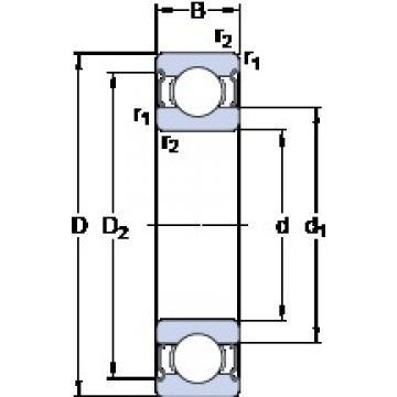 30 mm x 62 mm x 16 mm  SKF 6206-2Z deep groove ball bearings
