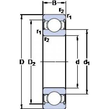 50 mm x 90 mm x 20 mm  SKF 6210-2Z deep groove ball bearings