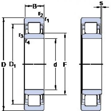 25 mm x 47 mm x 12 mm  SKF NU 1005 thrust ball bearings