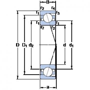 25 mm x 47 mm x 12 mm  SKF 7005 ACD/P4A angular contact ball bearings