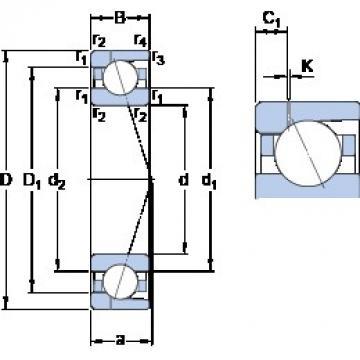 80 mm x 110 mm x 16 mm  SKF 71916 ACD/HCP4AH1 angular contact ball bearings
