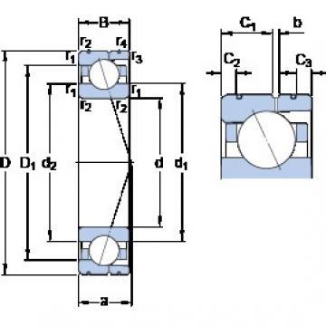 80 mm x 110 mm x 16 mm  SKF 71916 ACD/HCP4AL angular contact ball bearings