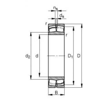 160 mm x 290 mm x 104 mm  FAG 23232-E1-TVPB spherical roller bearings