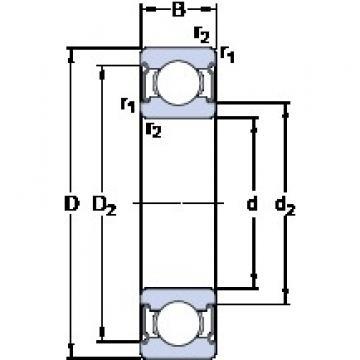 40 mm x 80 mm x 18 mm  SKF W 6208-2Z deep groove ball bearings