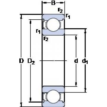 25 mm x 47 mm x 12 mm  SKF 6005-Z deep groove ball bearings