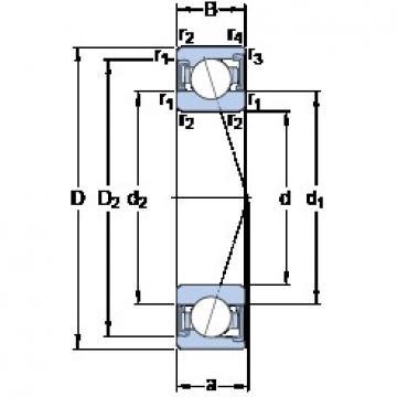 25 mm x 47 mm x 12 mm  SKF S7005 ACD/P4A angular contact ball bearings
