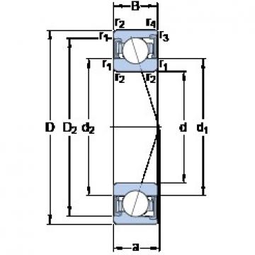 25 mm x 47 mm x 12 mm  SKF S7005 CD/HCP4A angular contact ball bearings