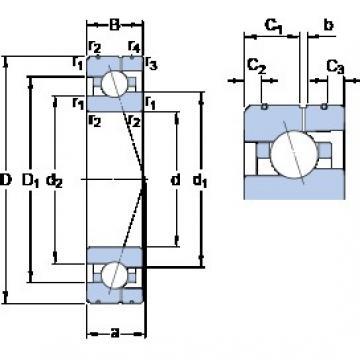 25 mm x 47 mm x 12 mm  SKF 7005 CE/HCP4AL angular contact ball bearings