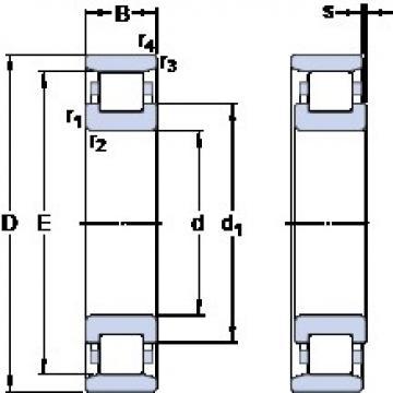 40 mm x 80 mm x 18 mm  SKF N 208 ECPH thrust ball bearings
