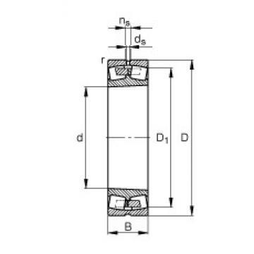 160 mm x 290 mm x 104 mm  FAG 23232-E1A-K-M spherical roller bearings
